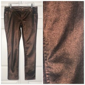 🌺 INC Skinny Jean Regular Fit Bronze Metallic